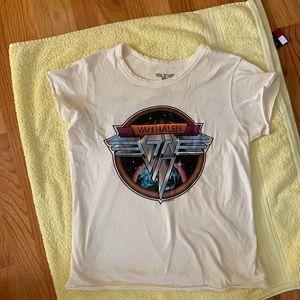Van Halen vintage cream t shirt american eagle